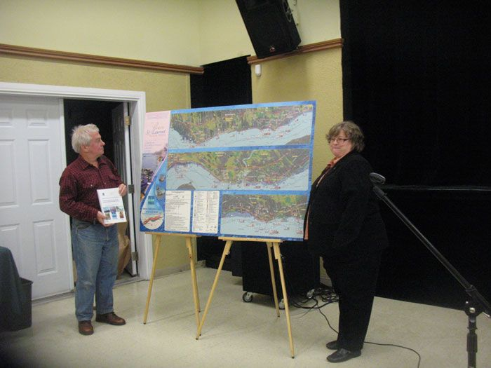 Remise du panneau - municipalité de Deschambault-Grondines