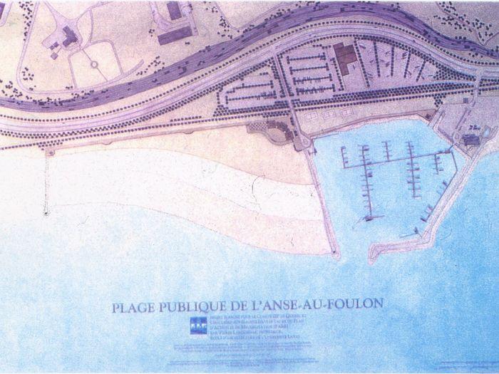 Plan d'aménagement de l'Anse au Foulon préparé par ZIPQCH